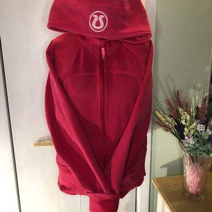 Hot Pink Lululemon Scuba Hoodie w/ light pink logo